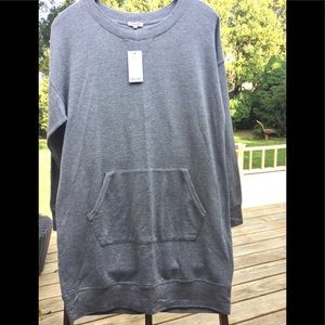 Splendid Heather Grey Sweatshirt Dress